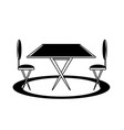 dining table icon image vector image vector image