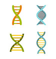 dna icon set flat style vector image vector image