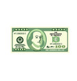 dollar currency banknote vector image vector image