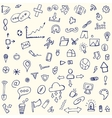 doodle icons arrows for the site vector image vector image