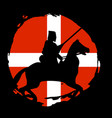 england knight warrior silhouette on black vector image vector image