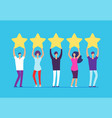 five stars rating concept positive customer vector image