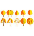 forest autumn tree vector image vector image