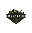 forest mountain adventure deer hunter badge vector image
