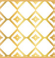 gold foil abstract seamless pattern vector image