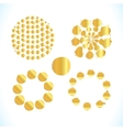 Gold splashes isolated vector image