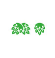 green hop icon set vector image vector image