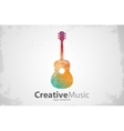 guitar logo creative logo music logo vector image