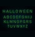 halloween neon font vector image
