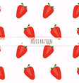 hand drawn strawberries seamless pattern vector image vector image