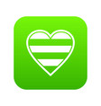 heart lgbt icon digital green vector image