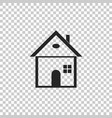 house icon on transparent background home symbol vector image
