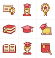 Icons Style Education icons set vector image vector image