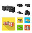 isolated object of facade and housing sign set of vector image vector image