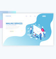 isometric mailing list or mailing services online vector image vector image