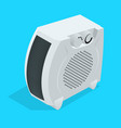 isometric white home electric con heater vector image vector image