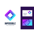 logo and business card template with an impossible vector image vector image