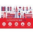 london england and travel accommodation icons vector image vector image