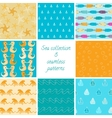 Marine patterns collection 1 vector image