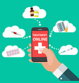 mobile apps concept of online treatment and health vector image vector image