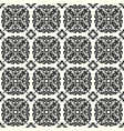 monochrome beautiful seamless pattern vintage vector image vector image