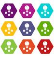 nitromethane icons set 9 vector image vector image