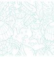 Outline doodle sea seamless pattern with starfish vector image vector image