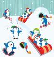 penguin fun vector image vector image