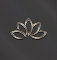platinum lotus flower logo icon vector image vector image