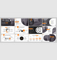 presentation template orange elements for slide vector image vector image