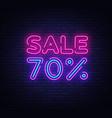 sale neon sign big design template vector image