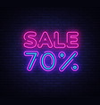 sale neon sign big sale design template vector image vector image