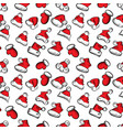santa claus hats christmas seamless pattern for vector image vector image