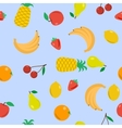 Seamless - fruits on blue vector image vector image