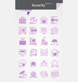 security iconsignsymbol pictogram vector image vector image