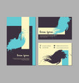set of grunge business cards with geometric vector image vector image