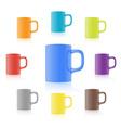 Set of realistic mug vector image vector image