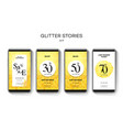 set sale web banners for social media mobile vector image vector image