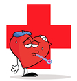Sick heart cartoon