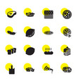 slice icons vector image vector image