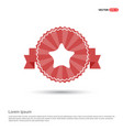 star icon - red ribbon banner vector image vector image