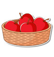 sticker basket with many red apples