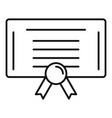 tax diploma icon outline style vector image vector image