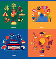 travel to countries set vector image vector image