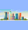 urban building skyline panoramic banner vector image vector image