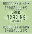 vintage label font named reading vector image vector image