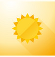 yellow symbol sun with long shadows vector image vector image