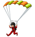 Sky diving vector image