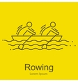 Canoe Rowing Team Icon Set Sporting Competition vector image