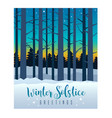 winter solstice sky and bare trees vector image